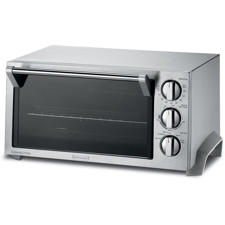 De'Longhi 6-Slice Chrome Convection Toaster Oven with Auto Shut-Off