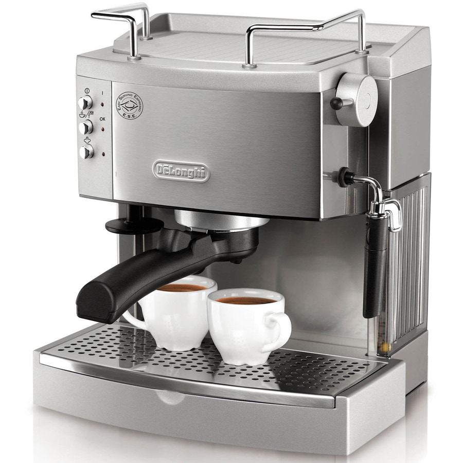 Coffee Maker Latte Reviews : Shop De Longhi Stainless Steel Manual Espresso Machine at Lowes.com