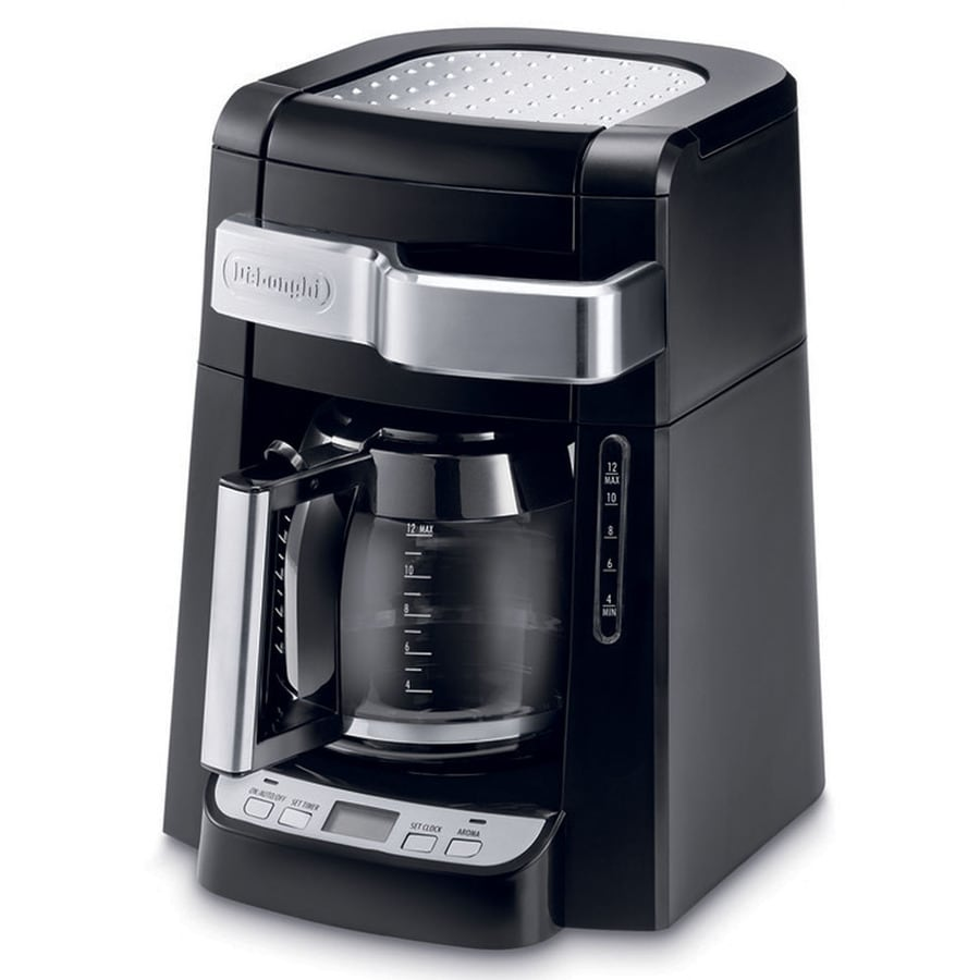 12 Cup Coffee Maker With Programmable Clock (49615) : Shop De Longhi 12-Cup Black Programmable Coffee Maker at Lowes.com