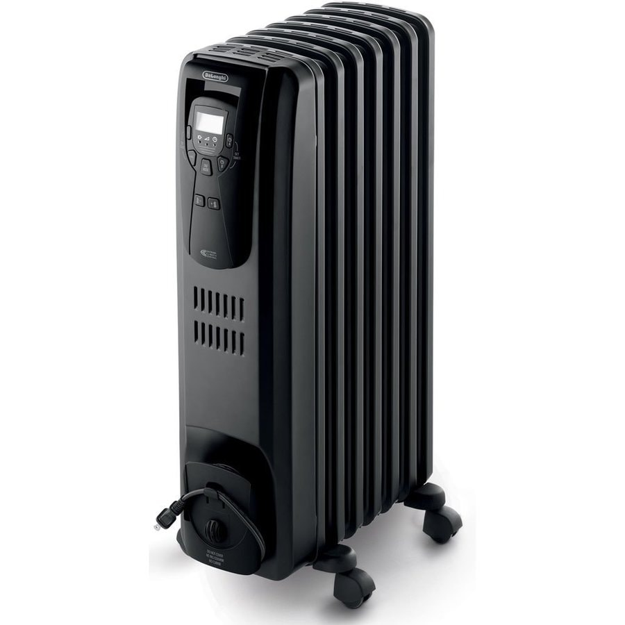 De'Longhi 5,120-BTU Oil-Filled Radiant Tower Electric Space Heater with Thermostat Energy Saving Setting