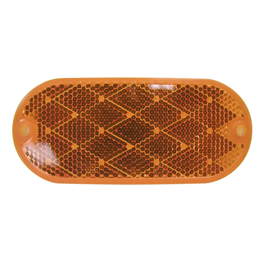 PETERSON 2-Pack Oval Amber Reflectors