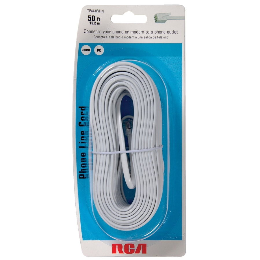 shop rca 50 phone line cord at lowes