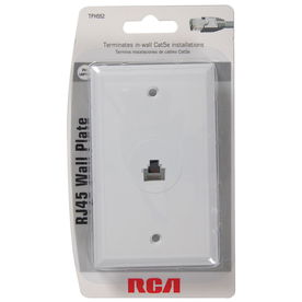 shop data cable at lowes com rca white rj45 wall plate