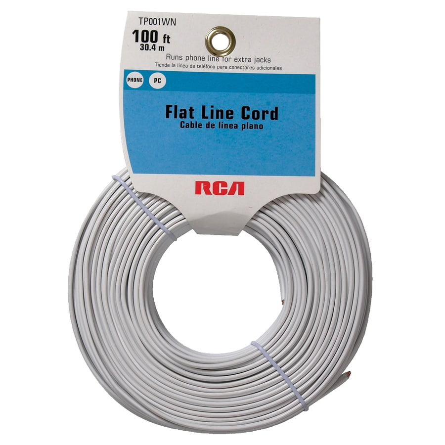 Shop RCA 100' 4-Wire Flat Line Cord - White at Lowes.com