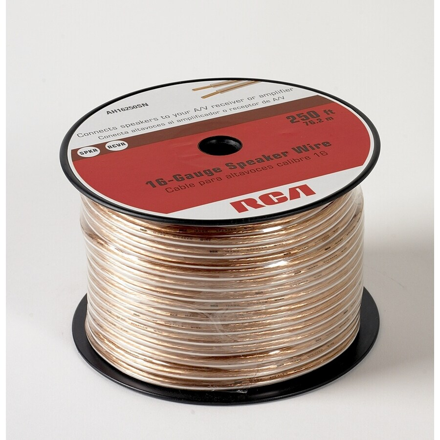 Speaker Cable Lowes : rca 250 ft 16 awg to 2 standard speaker wire by the roll at ~ Russianpoet.info Haus und Dekorationen