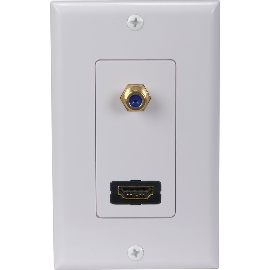 Shop Rca Plastic Combination Wall Jack At Lowes Com