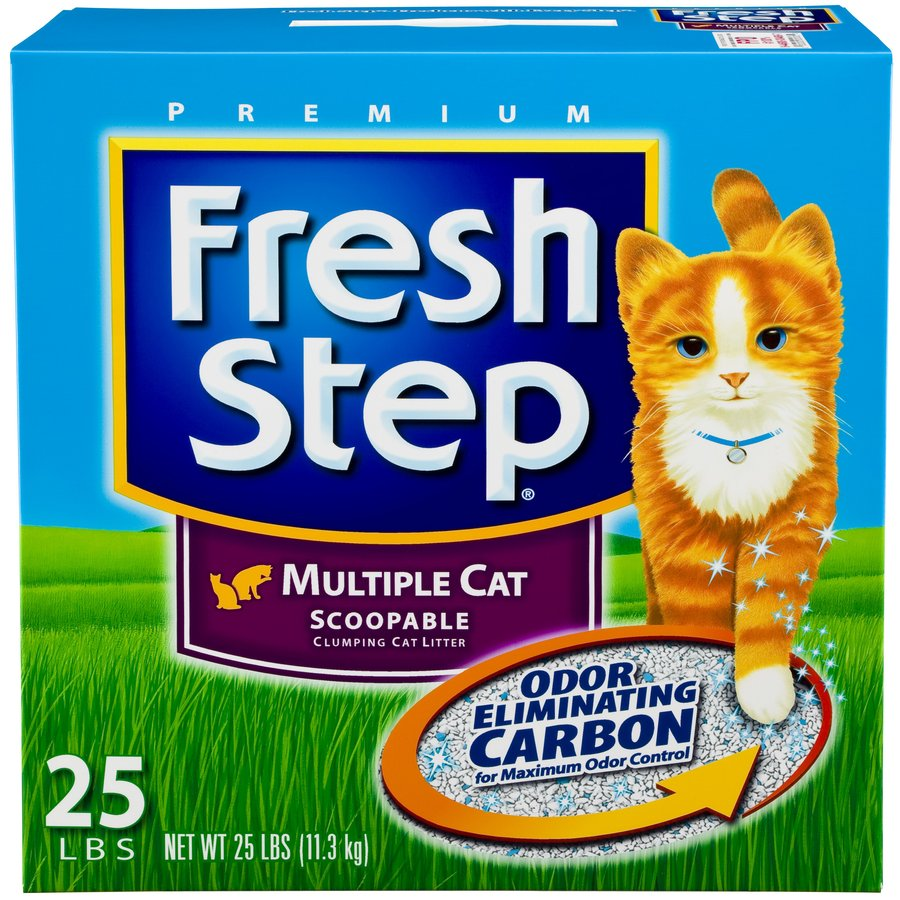 Fresh Step 25-lbs Clay Cat Litter for Multiple Cats