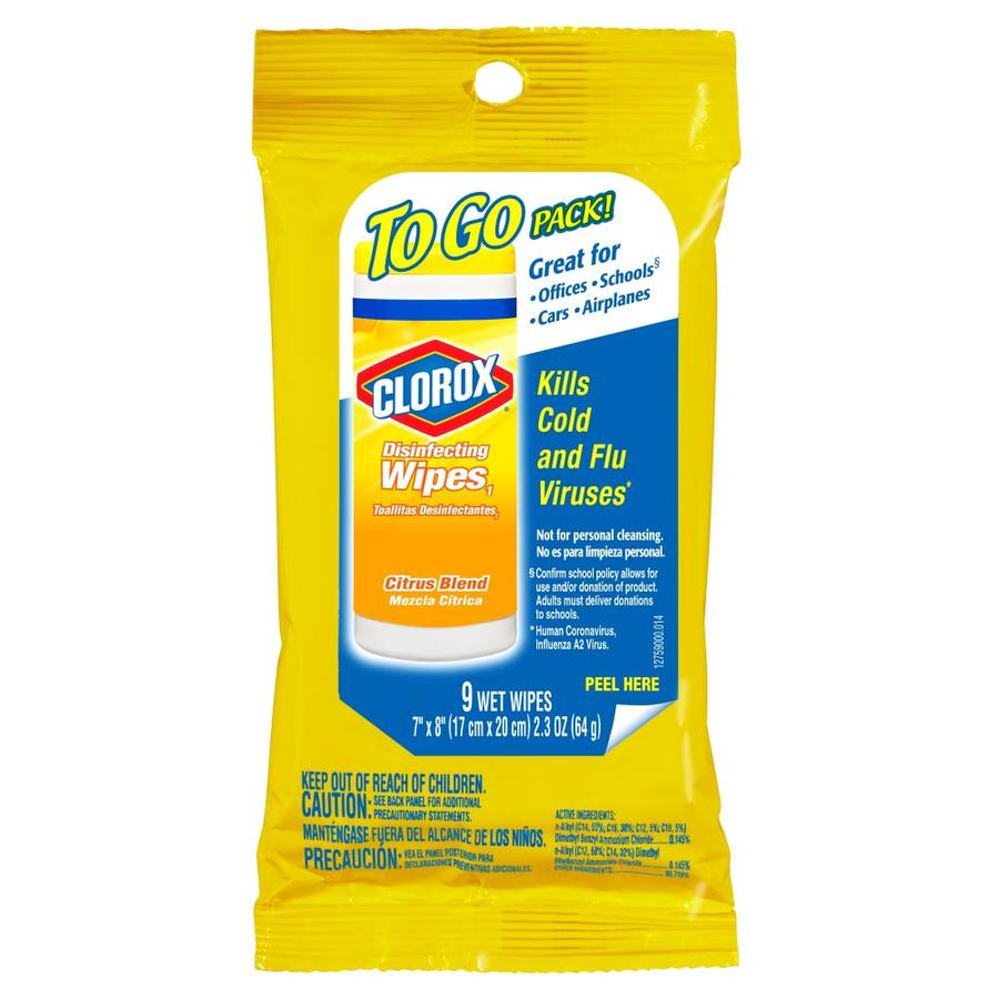 Clorox Disinfecting Wipes To-Go 9-Count Citrus Blend All-Purpose Cleaner