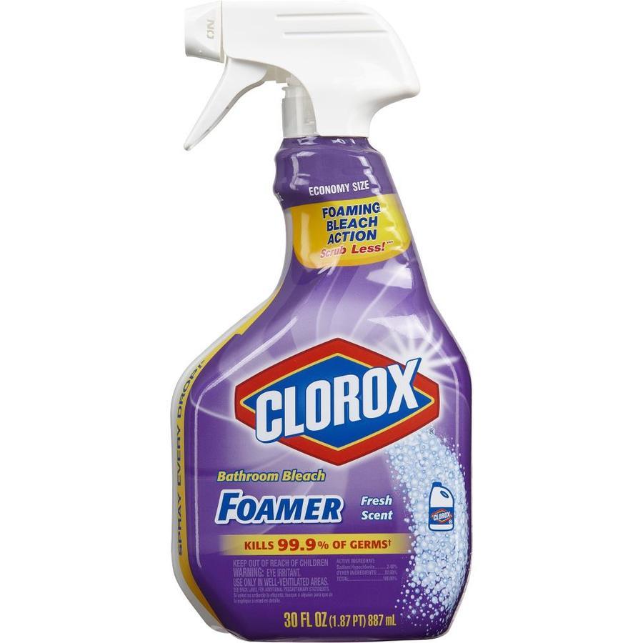 Clorox bathroom cleaner bathroom 30 fl oz fresh scent all - Clorox disinfecting bathroom cleaner spray ...