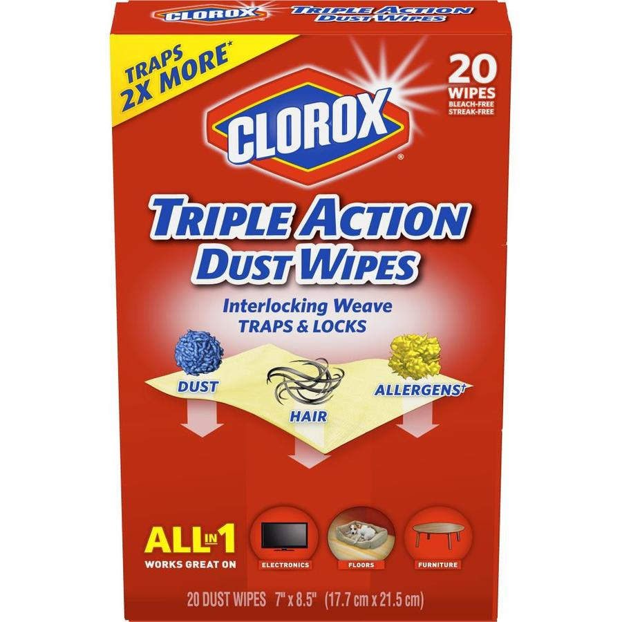 Clorox Disinfecting Wipes Dust Wipes 20-Count All-Purpose Cleaner