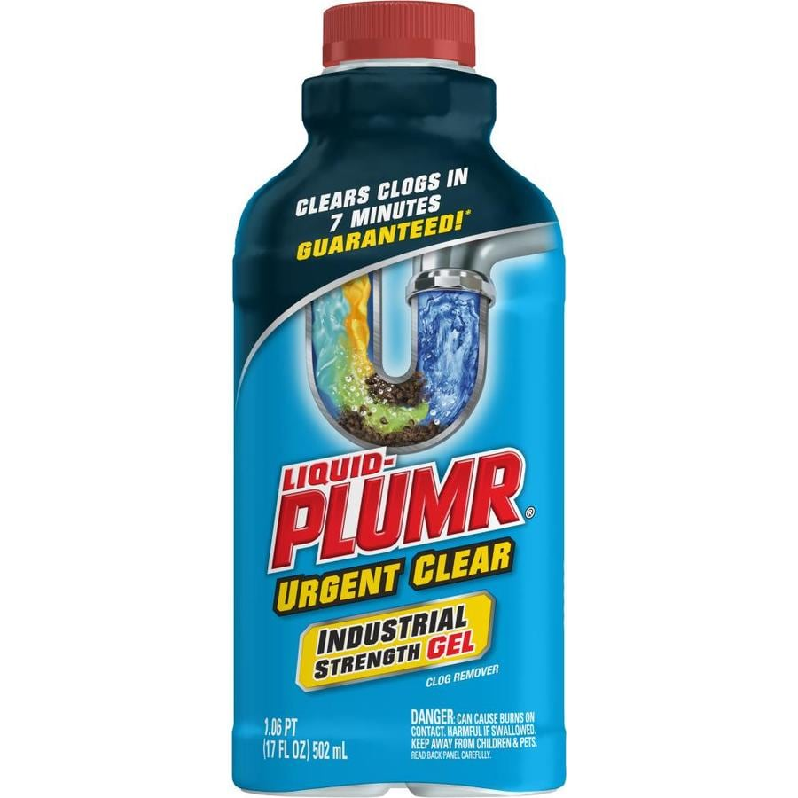 Liquid-Plumr Urgent Clear 17-fl oz Drain Cleaner Pour Bottle