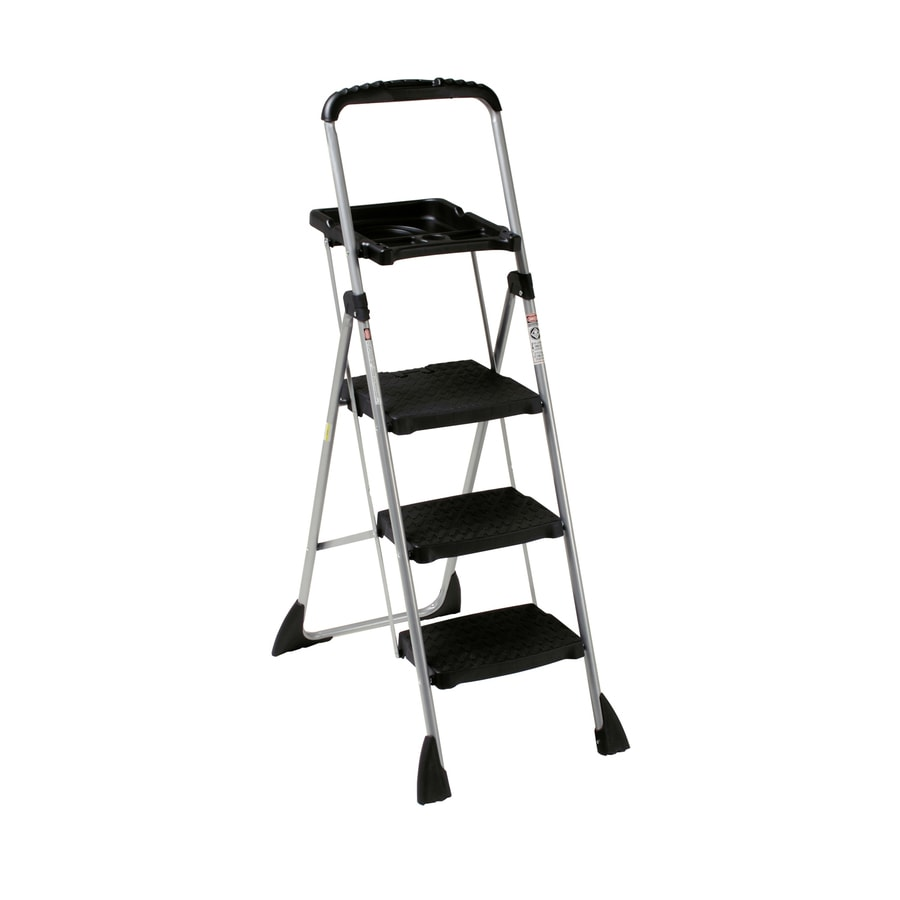 Cosco step stool chair - Cosco 3 Step Steel Step Stool