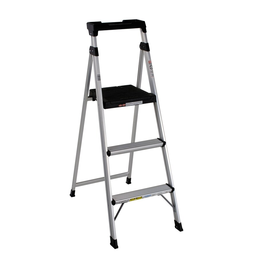 Shop Cosco 3 Step Aluminum Step Stool At Lowes Com