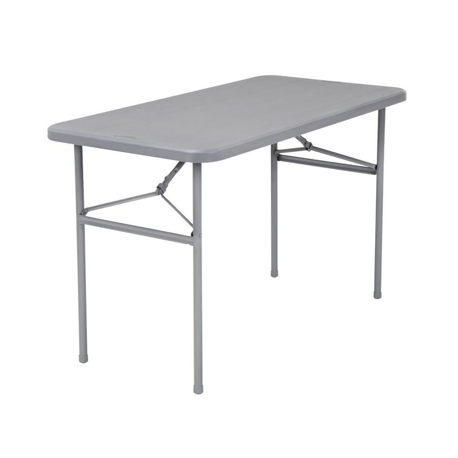 Rectangle Resin Gray Folding Table