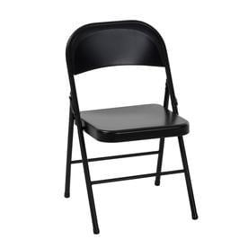 Cosco Indoor Only Steel Black Standard Folding Chair
