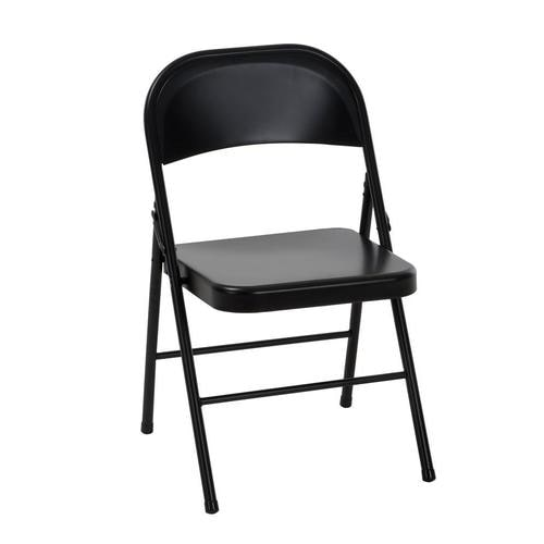 Magnificent Cosco Indoor Black Metal Solid Standard Folding Chair At Lowes Com Ocoug Best Dining Table And Chair Ideas Images Ocougorg