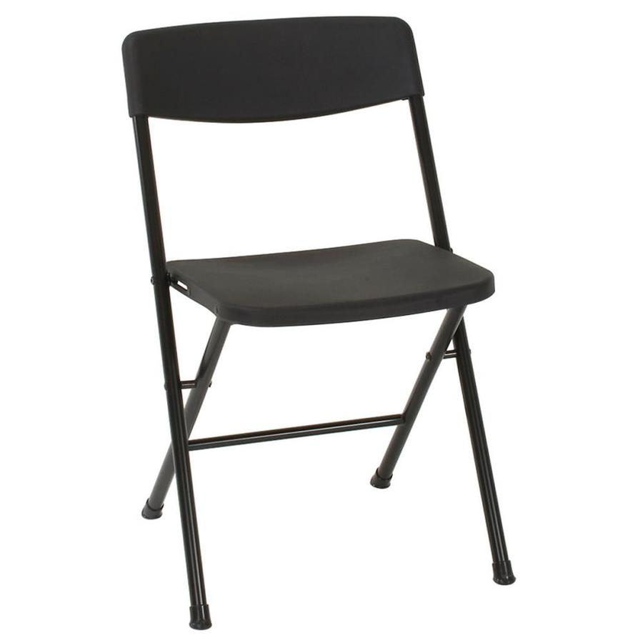 Cosco Set Of 4 Indoor Steel Black Resin Standard Folding Chairs