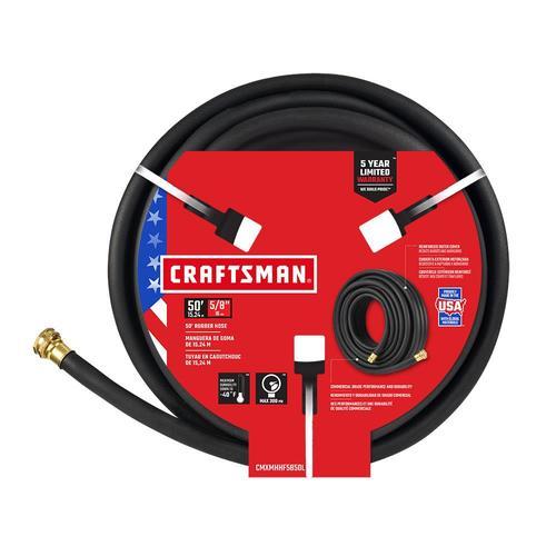 Dia Craftsman 5//8 in x 25 ft L Premium Grade Black Rubber Hose