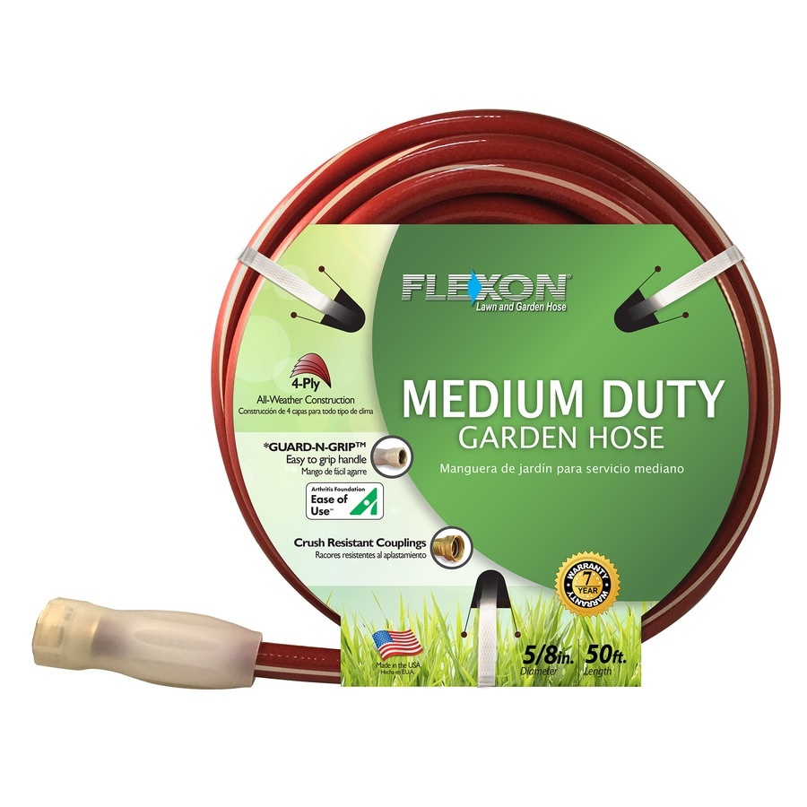FLEXON 5/8-in x 50-ft Medium Garden Hose