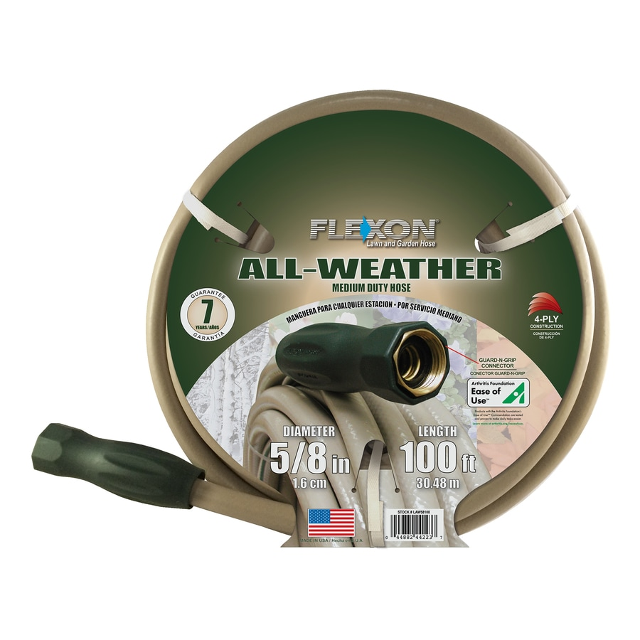 Shop FLEXON 58 in x 100 ft Medium Duty Garden Hose at Lowescom