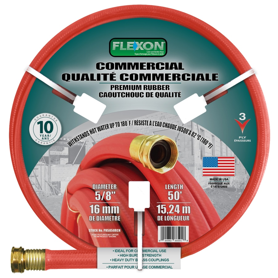 Superb FLEXON 5/8 In X 50 Ft Contractor Duty Garden Hose