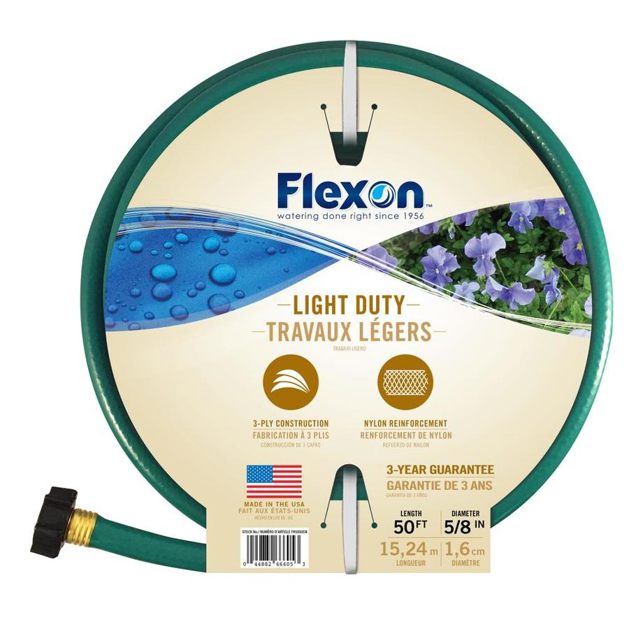 Shop FLEXON 58 in x 50 ft Light Duty Garden Hose at Lowescom