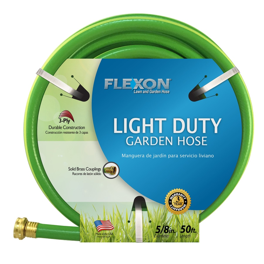 flexon 58 in x 50 ft light garden hose - Garden Hose