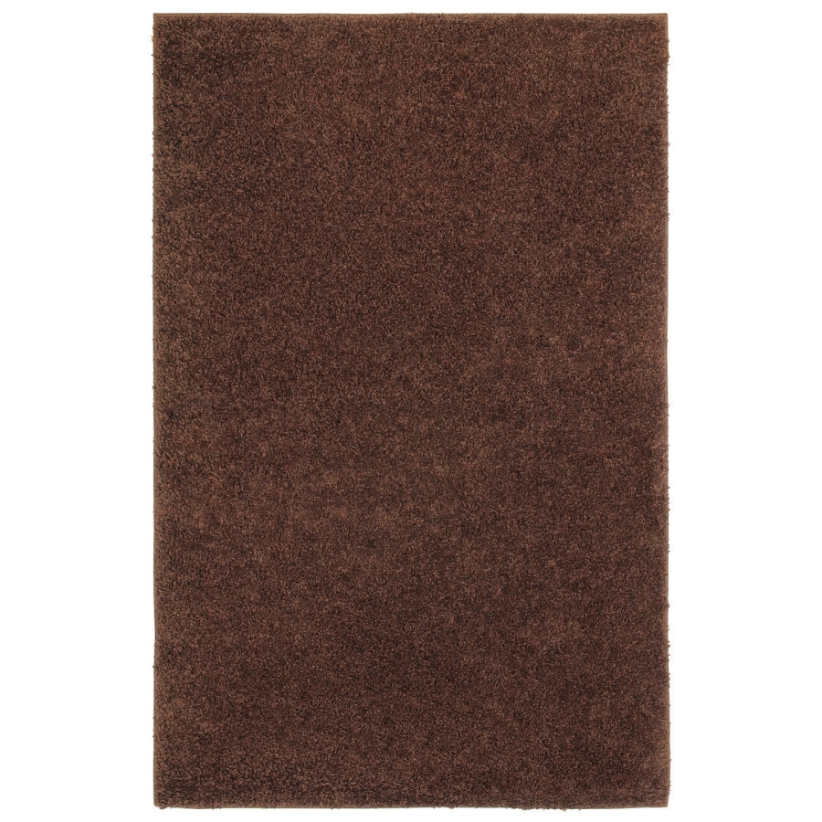 Shaw Living Shaggedy Shag 7-ft 6-in x 10-ft Rectangular Brown Solid Area Rug