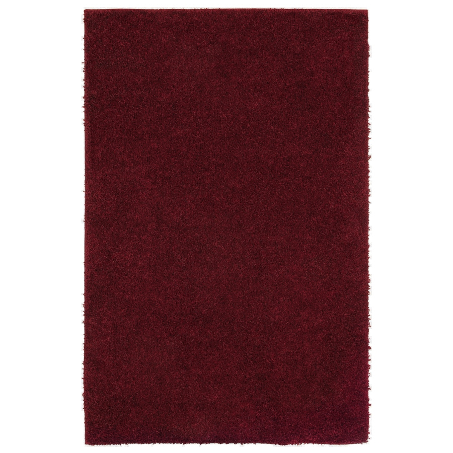 Shaw Living Shaggedy Shag Rectangular Red Solid Tufted Area Rug (Common: 5-ft x 8-ft; Actual: 5-ft x 7-ft)