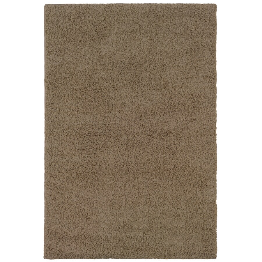 Shaw Living Shaggedy Shag Rectangular Indoor Tufted Area Rug (Common: 4 x 6; Actual: 48-in W x 72-in L)
