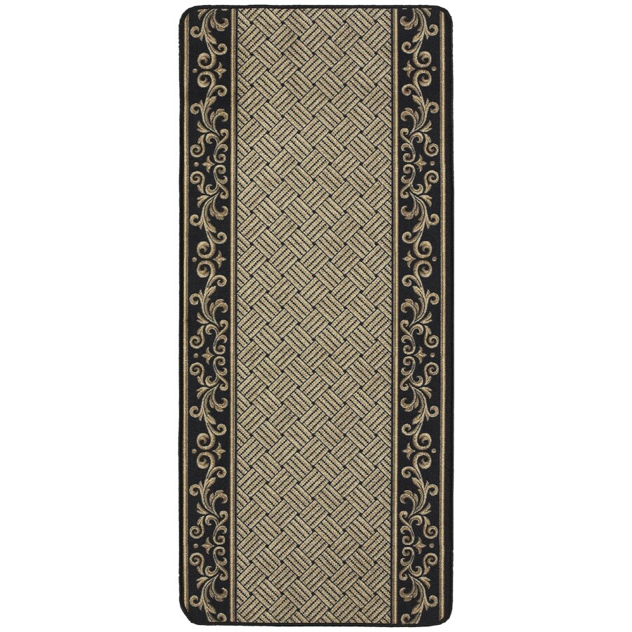 Nance Nance Carpet Black Rectangular Indoor Tufted Runner (Common: 2 x 6; Actual: 26-in W x 72-in L)
