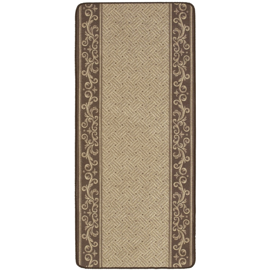 Nance Nance Carpet Brown Rectangular Indoor/Outdoor Tufted Runner (Common: 2 x 10; Actual: 26-in W x 120-in L)