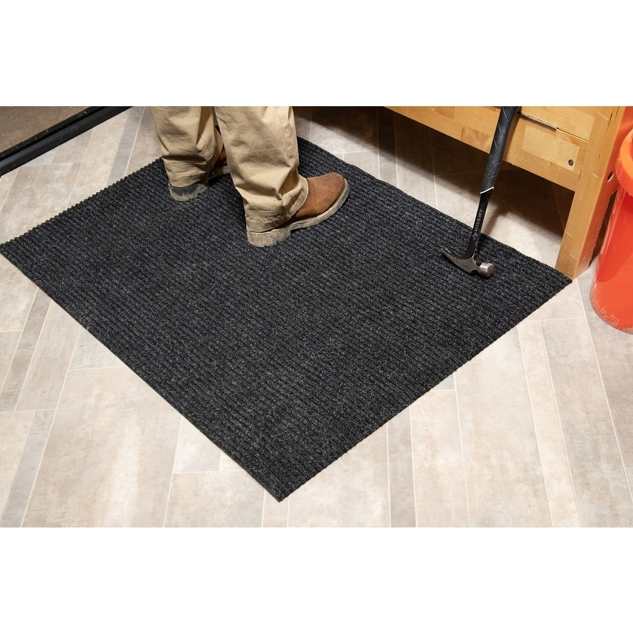 Blue Hawk Nance Carpet 27-in W Cut-to-Length Gray Tufted Olefin/Polypropylene Utility Runner (By-the-Foot)