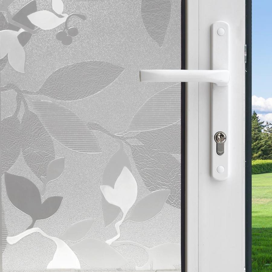gila 36 in w x 78 in l translucent autumn frost privacydecorative - Decorative Window Film