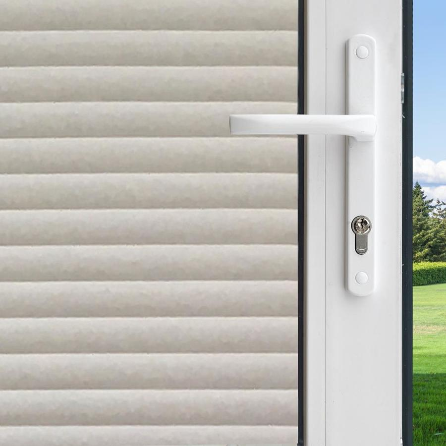 Lowe\u0027s & Decorative 36-in W x 6-1/2-ft L Frosted Faux Blinds Privacy/Decorative Window Film