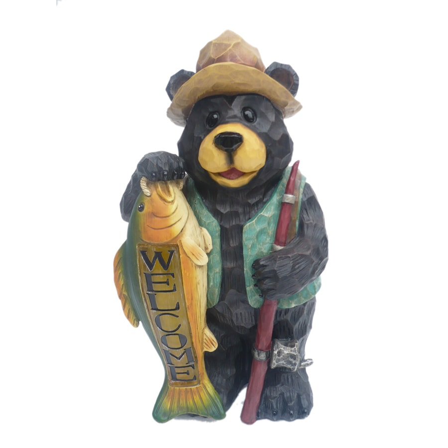 15.38-in H Bear Garden Statue