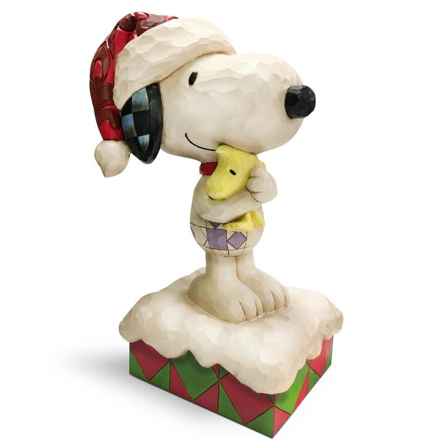 Jim Shore 0.8125 Ft Freestanding Snoopy And Woodstock Sculpture