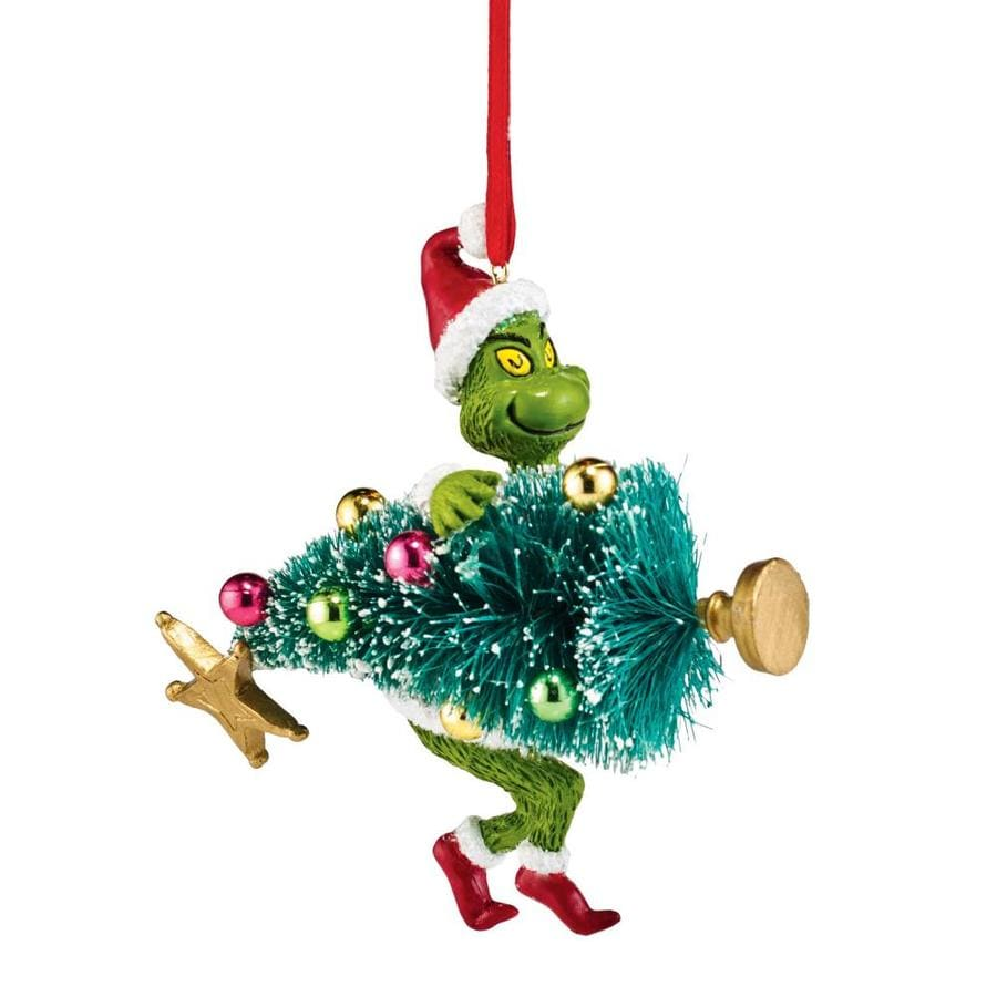 grinch license character stealing sisal christmas tree ornament