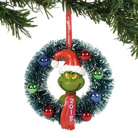grinch multiple colorsfinishes 2018 ornament