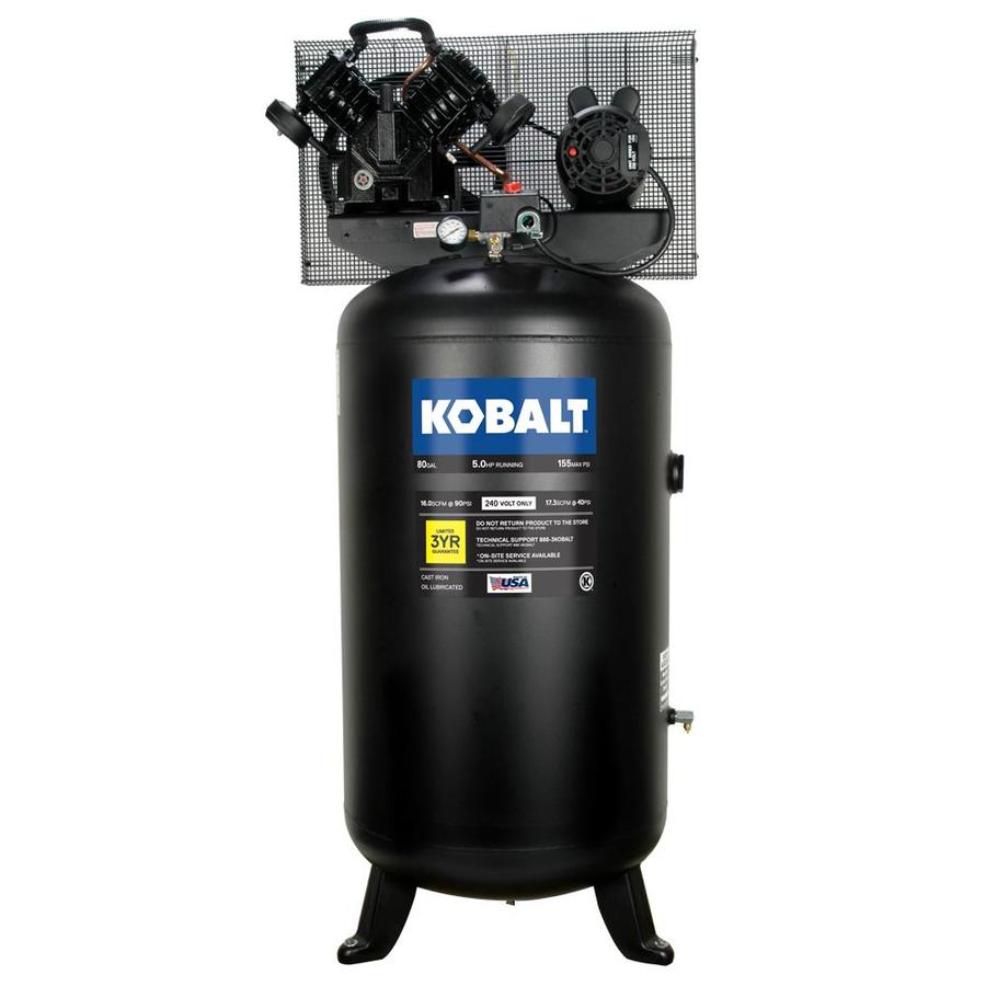 Kobalt 80-Gallon Electric Vertical Air Compressor