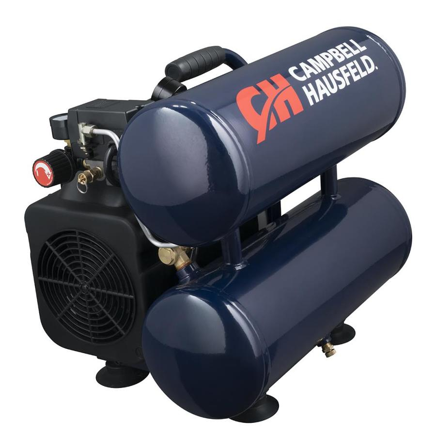 Campbell Hausfeld 4-Gallon Portable Electric Twin Stack Air Compressor