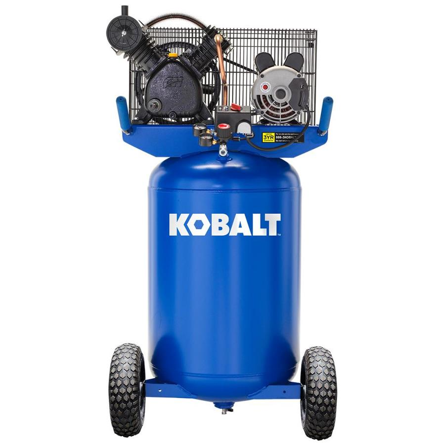 kobalt kobalt 30-gallon portable electric vertical air compressor