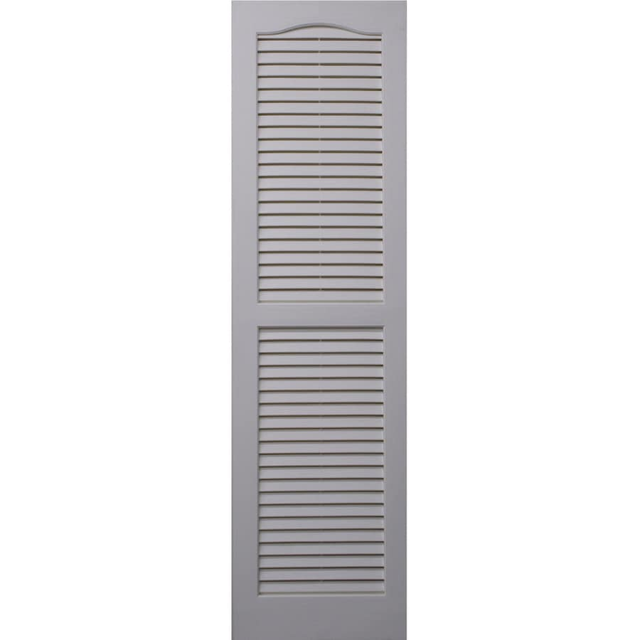 Shop Severe Weather 2 Pack White Louvered Vinyl Exterior Shutters Common 15 In X 71 In Actual
