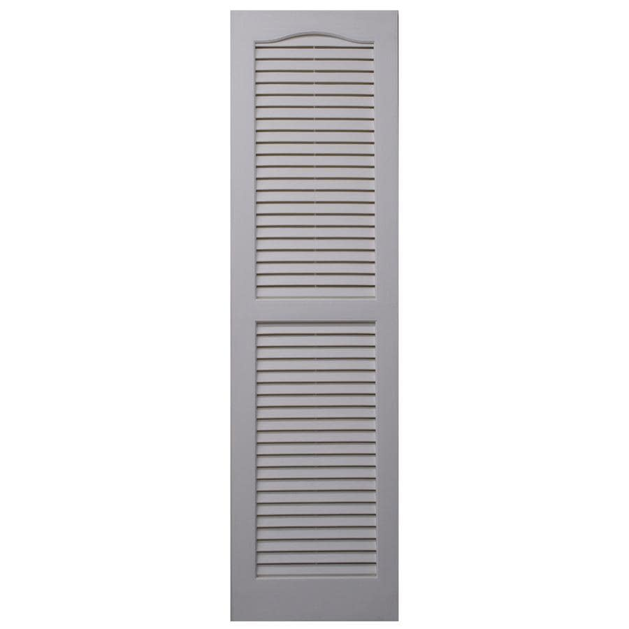 Severe Weather 2-Pack White Louvered Vinyl Exterior Shutters (Common: 15-in x 43-in; Actual: 14.5-in x 42.5-in)