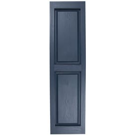 Severe Weather 2 Pack Midnight Blue Raised Panel Vinyl Exterior Shutters  (Common: 15