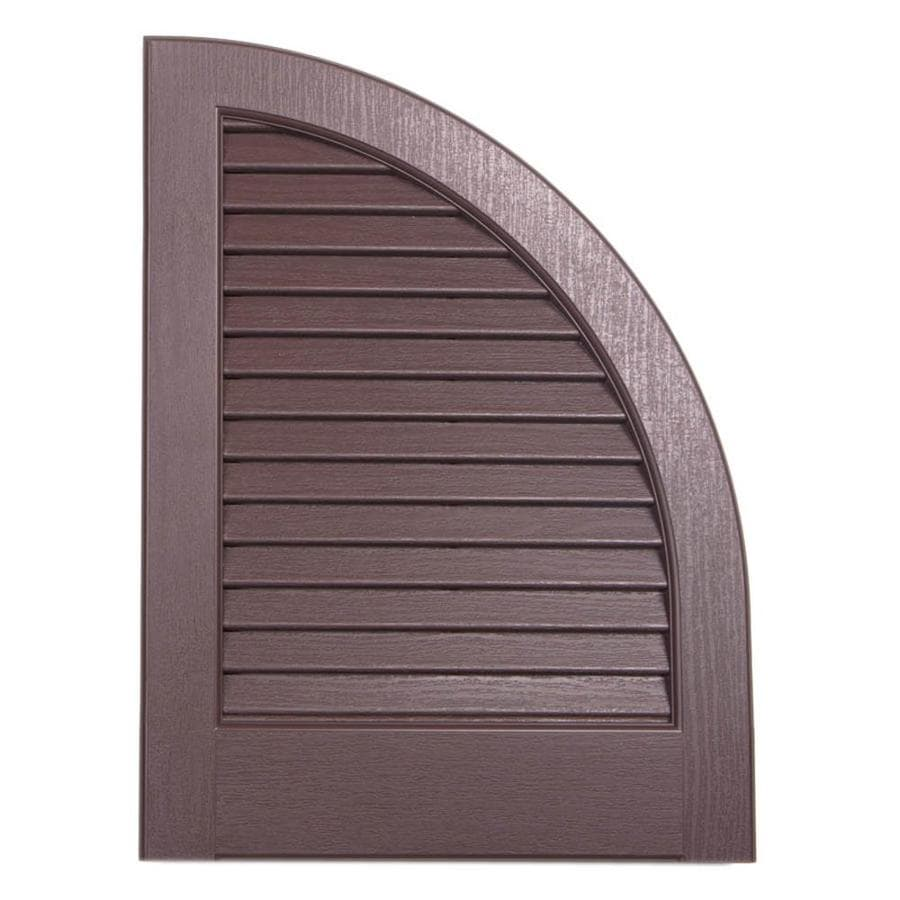 Severe Weather 2-Pack Brown Louvered Vinyl Exterior Shutters (Common: 15-in x 17-in; Actual: 14.5-in x 17-in)