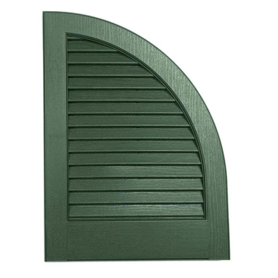 Severe Weather 2-Pack Heritage Green Louvered Vinyl Exterior Shutters (Common: 15-in x 17-in; Actual: 14.5-in x 17-in)