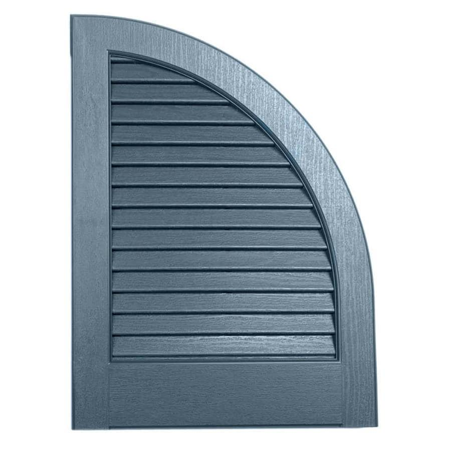 Severe Weather 2-Pack Midnight Blue Louvered Vinyl Exterior Shutters (Common: 15-in x 17-in; Actual: 14.5-in x 17-in)