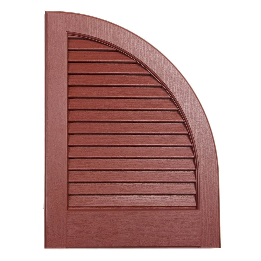 Severe Weather 2-Pack Earthen Red Louvered Vinyl Exterior Shutters (Common: 15-in x 17-in; Actual: 14.5-in x 17-in)