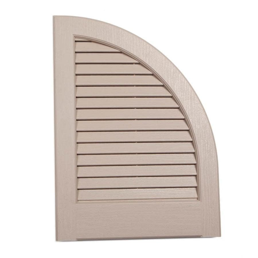 Shop Severe Weather 2 Pack Sandstone Louvered Vinyl Exterior Shutters Common